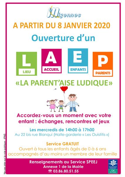 Création d'un Lieu d'Accueil Enfants Parents - LAEP